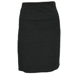 WHBM Bandage Pencil Skirt Ponte Knit Dark Gray 12